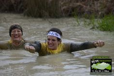 In deep water at the nuts challenge with Carol. 2014