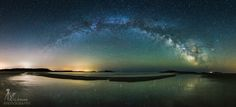 Astrophotographer A. Garrett Evans took this image of the Milky Way over Popham Beach State Park in Maine the morning of April 18, 2015 as a 9-shot panorama.