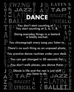 18 Dance Recital Gifts – Cute Gift Ideas for Teen Dancers Tanzstile Poster drucken Dance Hip Hop, Tap Dance, Just Dance, Dance Moms, Dance Recital, Dancer Quotes, Ballet Quotes, Waltz Dance, Ballet Dance
