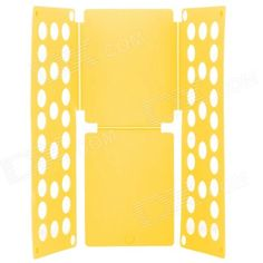 LR-02 Flip Clothes Shirt Folder Folding Board Organizer - Yellow. I want this thing. late night Infomercials are great!