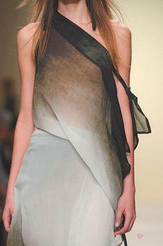 luvrumcake: Ombre dress - Ann Demeulemeester