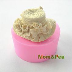 Günstige Mom & Pea 0407 Kostenloser Versand Dame Hut Silikonseifenform Kuchen Dekoration Fondant Kuchen 3D Mold Food Grade silikon form, Kaufe Qualität   direkt vom China-Lieferanten: material: lebensmittelqualität silikonformGröße: 7.9*7.9*3.9cmGewicht: 149g