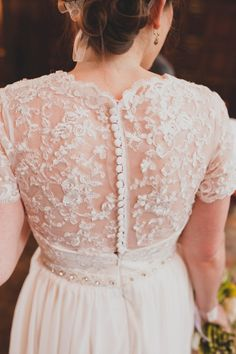 A Bespoke Wedding Dress For A Sweet Spring Time Wedding In The North