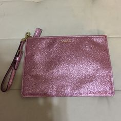 """Coach Pink Glitter wristlet 9.5""""x6.5"""" great bag Worn a handful of times, great condition, can even hold a small tablet Coach Bags Clutches & Wristlets"""
