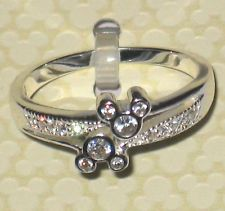 Crystal Gem✿Mickey Mouse Ring✿Sterling Silver✿Walt Disney World Authentic✿Size 9