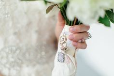 Something Old; tie your grandma's wedding or engagement rings to your bouquet.