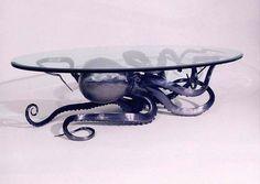 A kraken table! Octopus Decor, Octopus Art, Octopus Design, Home Decor Accessories, Decorative Accessories, Ideias Diy, Gothic House, Kraken, Deco Design