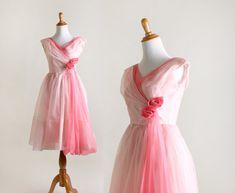 Vintage Rose 1960s Dress - Cotton Candy Pink Chiffon Party Dress ~ Pretty pretty pretty Miss Jacquelyn!
