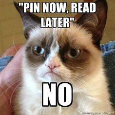 """""""Pin now, read later"""" no"""