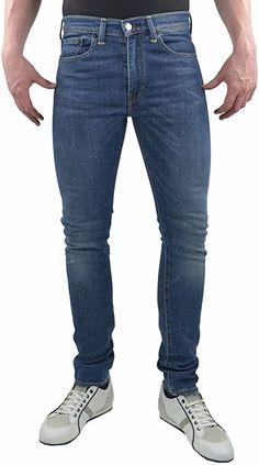 Levis 519  Bekleidung, Herren, Jeanshosen Levis 519, Skinny Pants, Slim Fit, Fitness, Black, Fashion, Dark Blue, Summer, Clothing