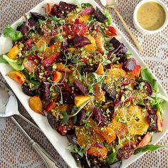 Roasted beet and citrus salad with mustard vinaigrette
