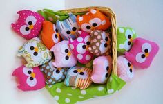 So easy to make! Baby owl rice bags. Hand warmers, hot compress for your eyes. I love them.