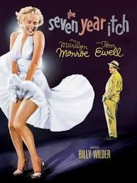 The seven year itch [videorecording] / Century Fox ; Feldman Group Productions presents a Cinemascope production ; screenplay by Billy Wilder & George Axelrod ; produced by Charles K. Feldman and Billy Wilder ; directed by Billy Wilder Hollywood Icons, Hollywood Stars, Old Hollywood, Carolyn Jones, Richard Sherman, Classic Movie Posters, Classic Movies, Iconic Movies, Popular Movies