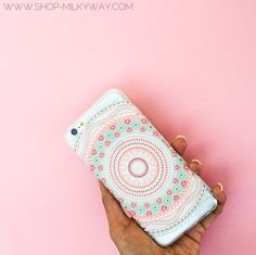 "Clear Plastic Case Cover for iPhone 6 (4.7"") Henna Anna Mandala from milkyway"