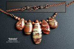 Necklace with natural stones Jasper 420 mm от vorobev на Etsy