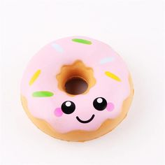 Squishy Kawaii Donut Pink Or Blue