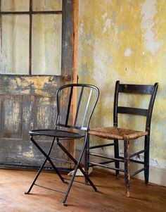 Trying to figure out how to paint distressed walls... kind of like this..