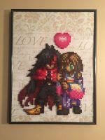 Vincent and Yuna Final Fantasy Perler Design by Amber--Lynn