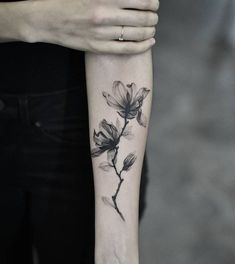 Magnolia Tattoo by dragonart.nyc