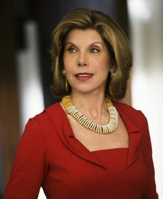 Christine Baranski Diane Lockhart The Good Wife, accessories are always gorgeous