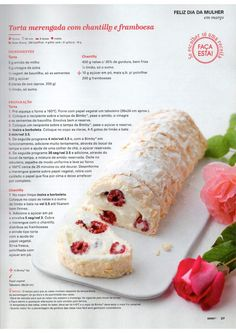 Revista bimby 2015 março by Ricardo Fernandes - issuu Kitchen Reviews, Sweet Cakes, Pavlova, Sweet Desserts, Recipe Cards, Fresh Rolls, Food Hacks, Gluten Free Recipes, Yummy Food