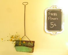 Shabby Chic Green Vintage dust pan Wall by ShayesChicDecorNMore