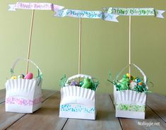 12 Super Clever DIY Easter Basket Crafts: Washi Tape Easter Basket