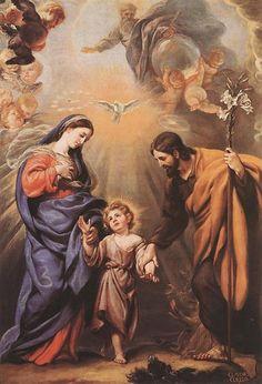 Claudio Coello Holy Family Oil on canvas  248 x 169 cm