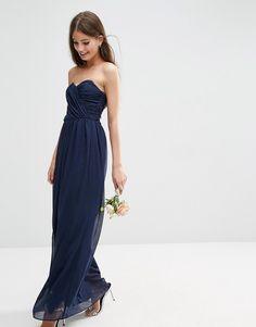 Image 4 ofASOS WEDDING Bandeau Maxi Dress