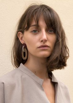 """Burgundy, Grey & Brown Link Drop Earrings Acetate w/Metal Post for Pierced Ears Approx 2.5""""L x Approx 1""""W Imported"""