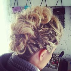 Hair by Jewels/Julie Jackson Stylists  Edgy Fauxhawk Inspired by Julianne Hough at the Golden Globe's.