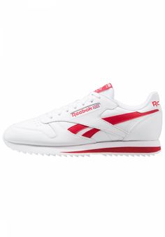 c1514eb36 CL LEATHER RIPPLE LOW BP - Zapatillas - white excellent red. Reebok Classic.