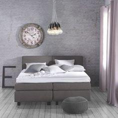 Elegantes Boxspringbett in Grau - für Entspannung mit Stil