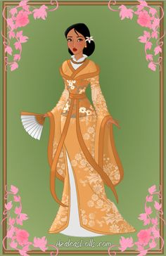 Pocahontas in Japan (it looks more like China than Japan to me - Racheal) Disney Pocahontas, Disney Nerd, Disney Fan Art, Disney Style, Disney Animated Films, Disney Movies, Princess Pictures, Princess Pics, Disney Animation