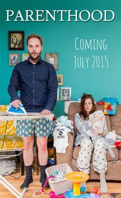 30+ Fun Photo Ideas to Announce a Pregnancy - Movie Poster Parenthood Announcement