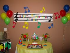 Restore Order: Tip Tuesday: Organizing Your Kids Birthday Party. Notekins music note theme.