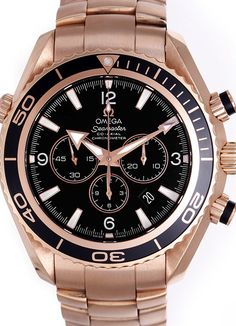 Encounter a watch that is the perfect symbol of a milestone in your life. Omega Seamaster co-axial automatic chronograph 18krt gold with 50 % discount. www.megawatchoutlet.com