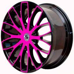 Pink Black And Chrome Rims | By : Automotive News U0026 Super Modified Sports  Cars