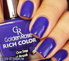 natalia-lily: Beauty Blog: GOLDEN ROSE RICH COLOR NR 107 | Bardziej fiolet niż granat