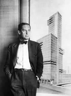 Architecture of the period was dominated by the Bauhaus style of metallic, unadorned buildings. Here, Bauhaus founder Walter Gropius.