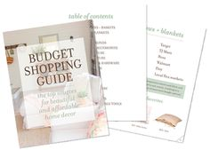 Free guide with all the best sources for beautiful budget decorating & remodeling!
