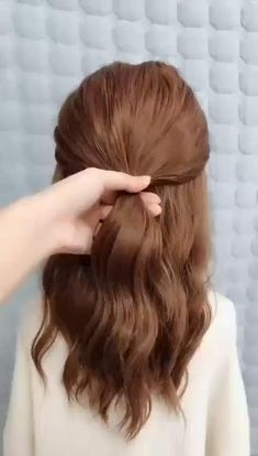 Easy Hairstyle Video, Easy Hairstyles For Long Hair, Everyday Hairstyles, Summer Hairstyles, Easy Morning Hairstyles, Hairstyles Videos, Easy Wedding Hairstyles, Hairstyles With Braids, Hairstyles For Girls