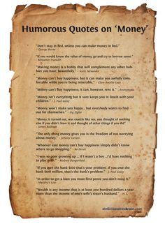 Humorous quotes on 'Money' ...