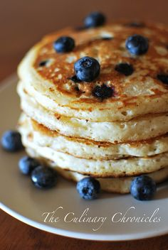 Fresh blueberry pancakes