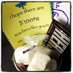 End of year teacher gift, s'mores!