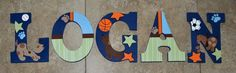 Personalized Wooden Wall Letters for Nurseries and Kids Rooms - Bow Wow theme by Lambs & Ivy by AllysCustomArt, $10.00