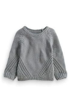 Shop For Girls' Knitwear At next. Buy Girls' Knitwear Now! Kids Knitting Patterns, Knitting For Kids, Trendy Baby Clothes, Diy Clothes, Girls Sweaters, Baby Sweaters, Baby Pullover, Bobe, Chunky Knitwear