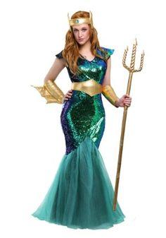 Women Sequin Mermaid Costume Adult Ladie Fairytale Cosplay Sea Siren Fancy Dress