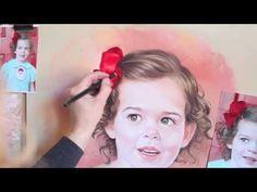 Pastel portrait, Drawing a pastel portrait - YouTube