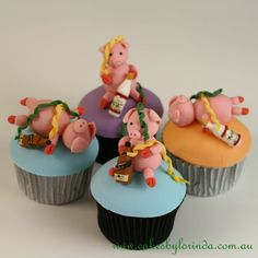 Party pigs cupcakes
